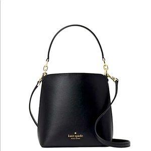 Kate Spade ♠️ black bucket bag. NWT